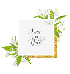 Wedding invitation anniversary party rsvp floral vector