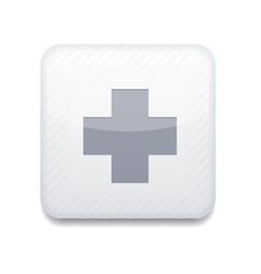 White cross icon Eps10 Easy to edit vector
