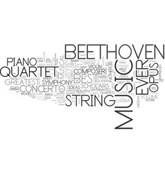 Who is the greatest composer ever text word cloud vector