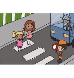 crosswalk vector image