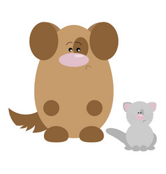dog and cat sad vector image