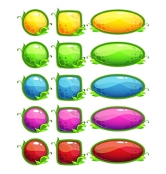 Glossy nature buttons set vector image vector image