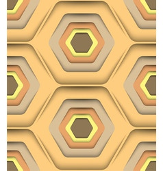 Honeycomb Honey Colors Seamless Pattern vector image