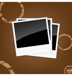 polaroid background vector image vector image