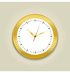 Round office clock vector image vector image