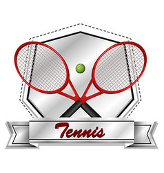 Sport icon design with tennis rackets and ball vector image