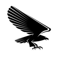 Black eagle tattoo vector image vector image