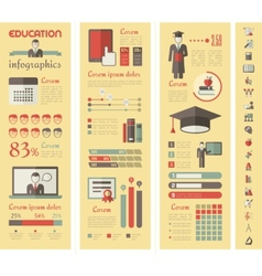 Education Infographics vector image vector image