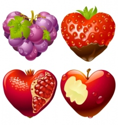 shape of heart set 2 vector image vector image