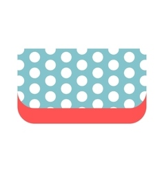Summer bag clutch icon isolated on white vector image