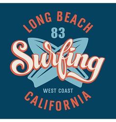 Surfing California vector image vector image