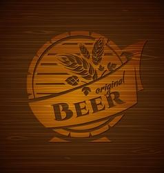 template beer emblem vector image vector image