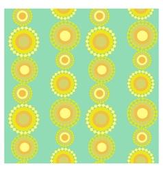 Yellow circles vector image