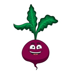 Cheerful happy cartoon beetroot vegetable vector image vector image