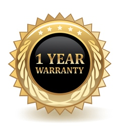One Year Warranty vector image vector image