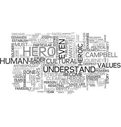 who is the hero in the hero s journey text word vector image