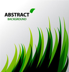 Abstract green grass background vector image