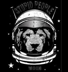 animal astronaut suit hand drawn vector image