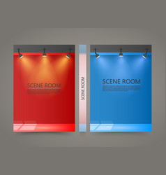 Color room with a light source banner lighted vector
