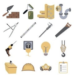 construction repair tools icons symbols vector image vector image