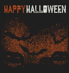 happy halloween holiday logotype pumpkins and vector image