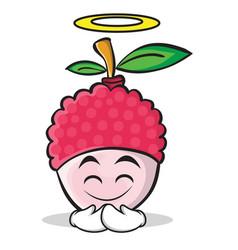 Innocent face lychee cartoon character style vector