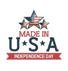 made in usa emblem icon vector image