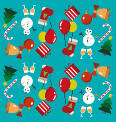 merry christmas pattern vector image vector image