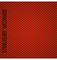 Seamless strawberry pattern background vector image