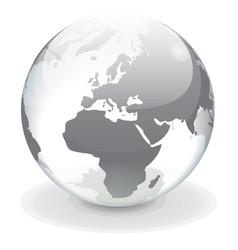 Transparent globe of Europe vector image