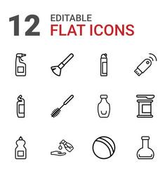 12 plastic icons vector