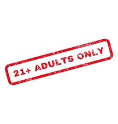 21 Plus Adults Only Text Rubber Stamp vector