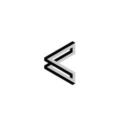 3d letter c logo design concept vector image