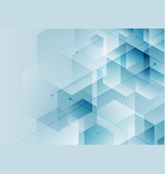 abstract background blue hexagons with diagonal vector image