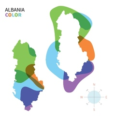 abstract colored map albania vector image