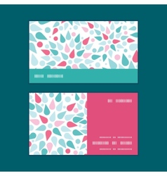 Abstract colorful drops horizontal stripe vector