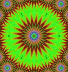 Abstract floral fractal mandala design background vector image