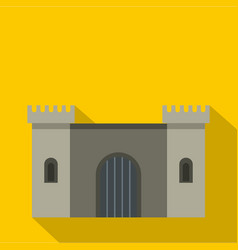 ancient fortress icon flat style vector image