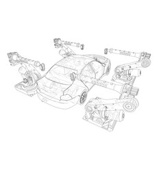 assembly motor vehicle vector image