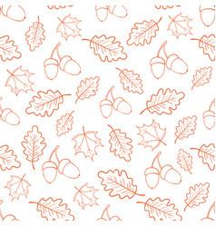 autumn oak leaves pattern vector image