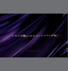 awarding nomination ceremony luxury black wavy vector image