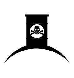 Barrel with danger skull vector