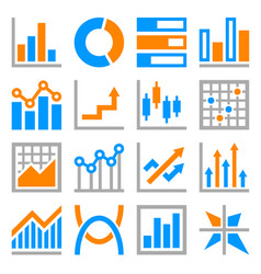big data analytics icons set on white background vector image