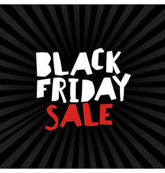 Black Friday on Black Rays vector image