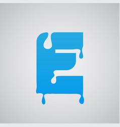 blue flow character vector image