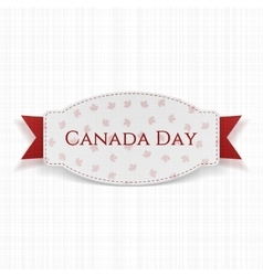 canada day realistic label with text and ribbon vector image