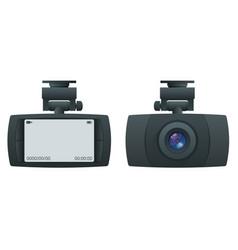 Car dvr portable mobile dvr video camera camcorder vector