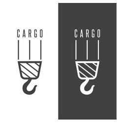 Cargo design template with crane hook vector