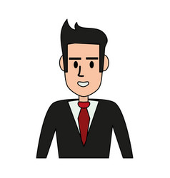 cartoon man profile vector image vector image