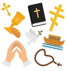 christian religion pattern religious vector image